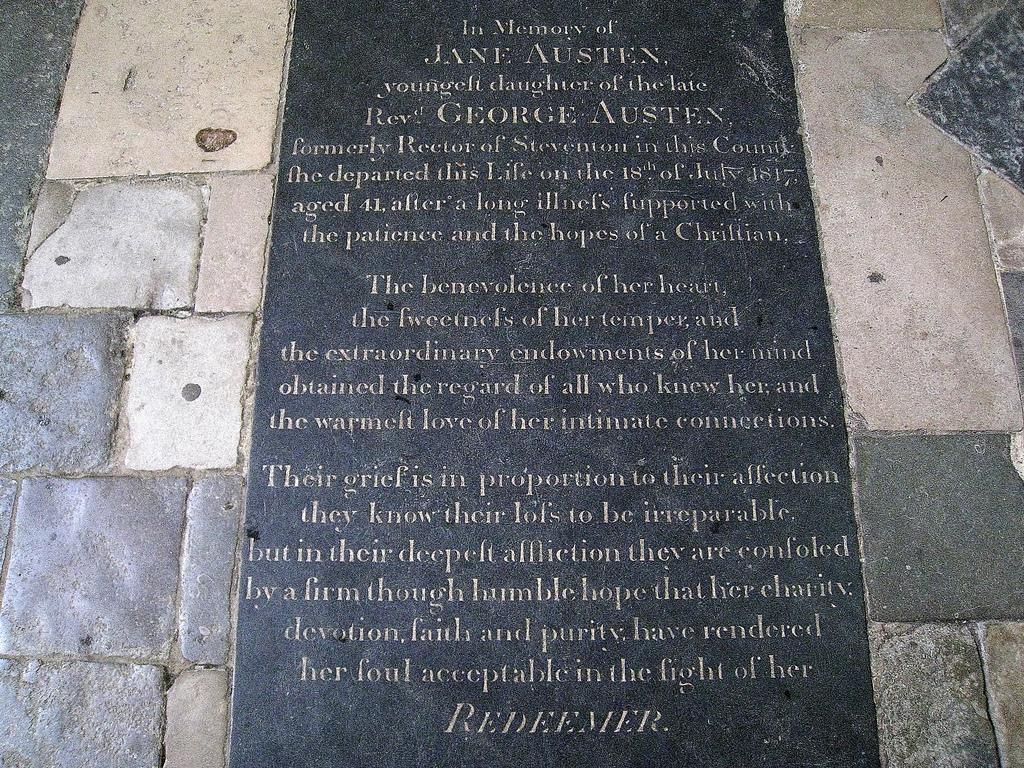 jane austen gravestone